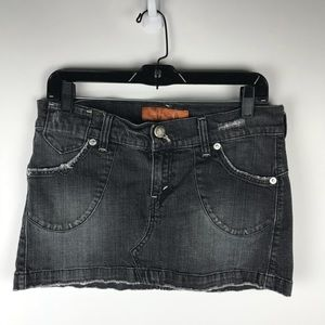 Levi's Jeans Black Denim Mini Skirt
